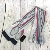 BRAND楓月 LOUIS VUITTON LV 路易威登 M70416 灰白 鑰匙 鍊帶 圖案 絲巾