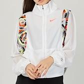 Nike Lina RN Transparent 女款 白 李娜系列 花卉 立領 紡紗 外套 CZ8655-100
