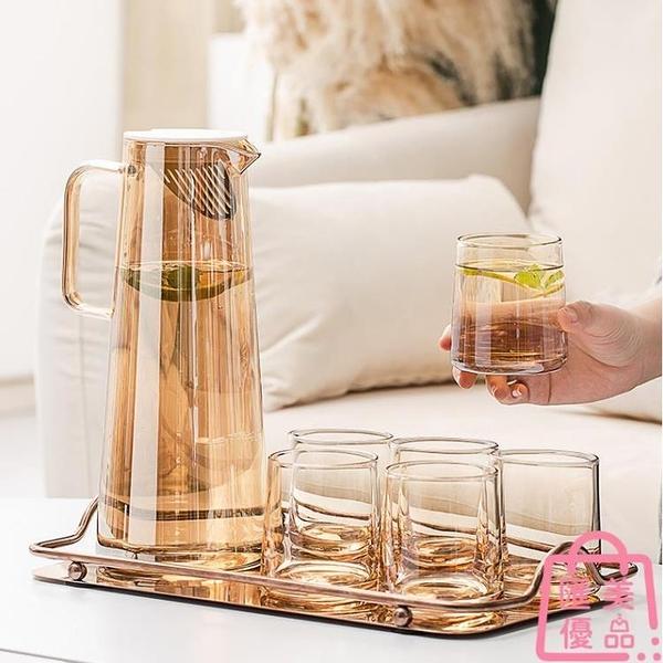 冷水壺玻璃耐高溫涼水杯大容量涼白開水杯茶壺【匯美優品】