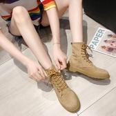 馬丁靴馬丁靴女英倫風百搭春秋單靴網紅瘦瘦靴機車黑色短靴 夏季新品