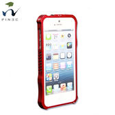 Obien iPhone5/iPhone5S 鋁合金保護框 紅色 免螺絲設計
