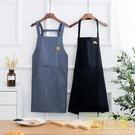 圍裙 圍裙韓版時尚成人定制logo家用廚房純棉可愛男女式做飯圍腰工作服 店慶降價