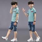 男童夏裝套裝2021年新款夏季中大童帥氣男孩夏款休閒運動衣服潮童 蘿莉新品