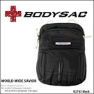 Outdoor Style 機能性 潮流休閒 腰包 / 小側背包 黑色 AMINAH~【BODYSAC B2745】