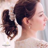 髮飾 花朵串珠香蕉夾-Ruby s 露比午茶