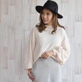 東京著衣-Felt maglietta-小高領蝙蝠袖交叉織紋針織毛衣(Z200017)