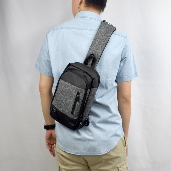 單肩包 雙色拼接貼身側背包NZCA5