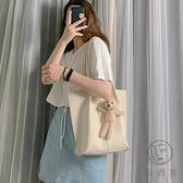 手提包女韓版百搭大容量托特包時尚斜背包【小酒窩服飾】