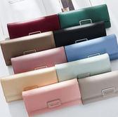 丁果、女包►韓版皮夾-簡約時尚手拿包搭扣票卡包長夾錢包*13色