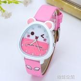 兒童手錶女孩男孩小學生錶可愛石英錶卡通小孩女童女生防水電子錶 韓語空間