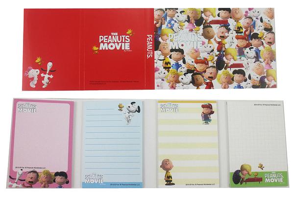 【卡漫城】 Snoopy 便條本 人物滿版 Memopad ㊣版 史奴比 史努比 便條紙 N次貼 Peanuts 日本製