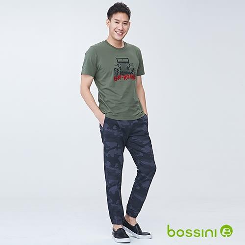 輕鬆束口長褲01鐵灰-bossini男裝