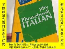 二手書博民逛書店罕見Jiffy Phrasebook ITALIANY24630