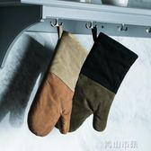 加厚隔熱防燙手套 微波爐耐高溫手套廚房烘焙烤箱專用手套 青山市集