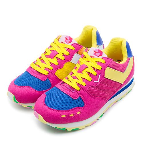 LIKA夢 PONY 繽紛韓風復古慢跑鞋 YORK Campus系列 桃黃藍 53W1YK61PM 女 6折好康