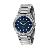 【Maserati 瑪莎拉蒂】TRICONIC簡約三針日期鋼帶腕錶-工業藍/R8853139002/台灣總代理公司貨享兩年保固