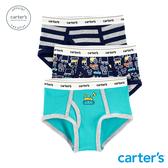 【美國 carter s】條紋車車3件組內褲(三角)-台灣總代理