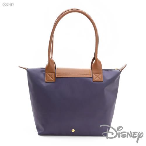 DISNEY 心動時刻 手繪風可摺疊側背包(中)-紫