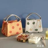 野餐袋加厚飯盒袋手提便當包鋁箔可愛女手拎帶飯的袋子保溫包學生午餐包 qz3615【野之旅】
