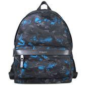 MICHAEL KORS KENT 輕量尼龍海洋迷彩紋雙肩 後背包 男女皆宜(海藍黑色-大)-37H6LKNB2R