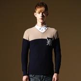 長袖針織衫-青春休閒國旗造型男針織毛衣3色73ik50【時尚巴黎】