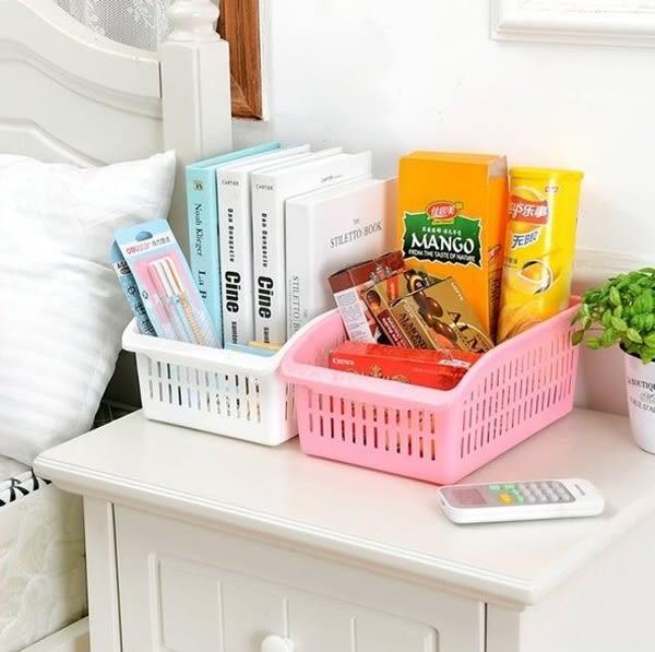 ♚MY COLOR♚簍空把手收納籃 廚房 衛浴 蔬菜 水果 收納盒 桌面 收納 整理 分類 糖果色【R39】