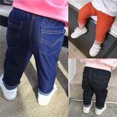 嬰兒牛仔褲春裝新款女寶寶純棉彈力褲