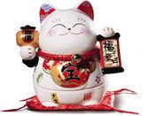 【金石工坊】福子登科(高13.5CM)招財貓 求子 平安長大 早生貴子 結婚禮物 陶瓷開運擺飾
