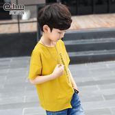 小象漢姆童裝男童字母印花短袖t恤2019夏裝新款中大兒童半袖衫潮