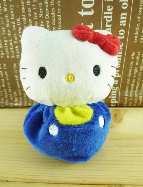 【震撼精品百貨】Hello Kitty 凱蒂貓~絨毛玩偶/擺飾-豆豆藍