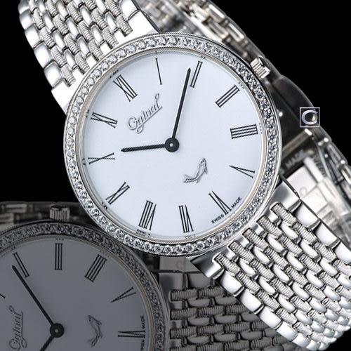 Ogival 愛其華薄型紳士腕錶 385021DM