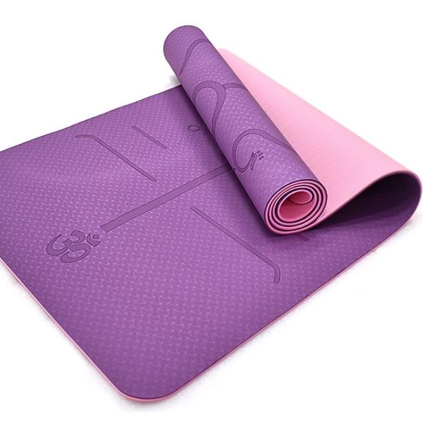 輔助體位線TPE雙色6MM瑜珈墊.加長運動墊止滑墊防滑墊.遊戲墊野餐墊防潮墊子.環保雙層地墊