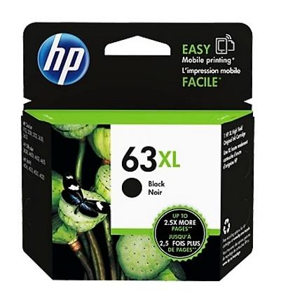 HP NO.63XL 原廠黑色高容量墨水匣 (F6U64AA)
