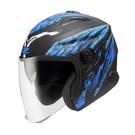 【東門城】ZEUS  ZS613B AJ5 雄霸 半罩安全帽 雙鏡片
