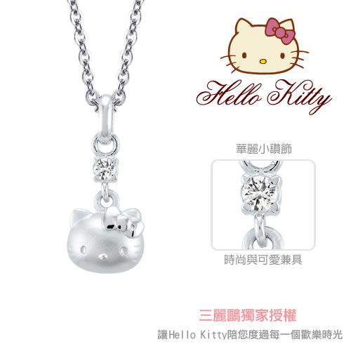 甜蜜約定 HelloKitty 陪伴kitty純銀墜子 送項鍊