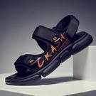 夏季涼鞋男士2021新款涼拖鞋潮流學生青少年百搭運動休閒沙灘鞋 依凡卡時尚