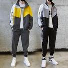 春季青少年運動套裝男韓版潮流初中高中學生休閒男裝衛衣兩件套潮【果果新品】