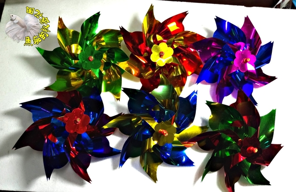 [黃藍/藍黃雙色小風車] 彩色小風車 童玩.玩具風車.卡通風車 ☆庭院裝飾.居家.店面.大廳擺飾☆
