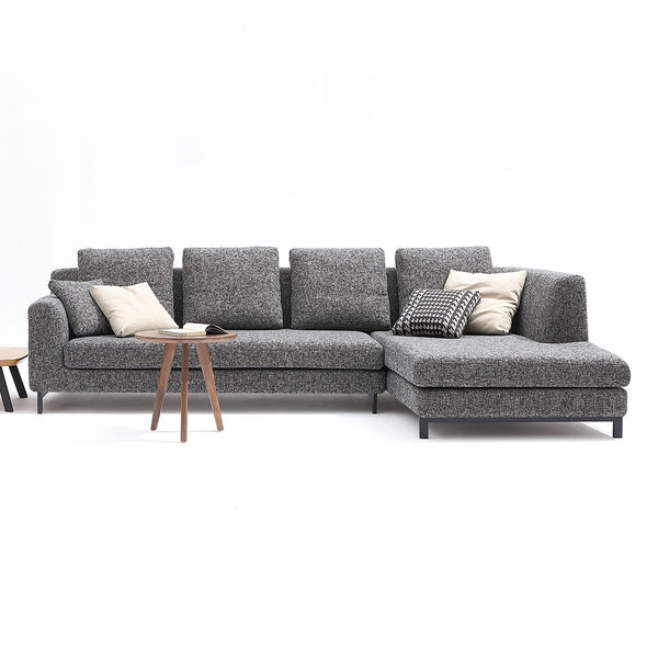 【森可家居】沛瑞絲L型沙發(面右) 7JX129-2 北歐風 布套可拆洗 另有面左