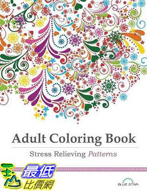[104美國直購] 2015 美國暢銷書排行榜 Adult Coloring Book: Stress Relieving Patterns