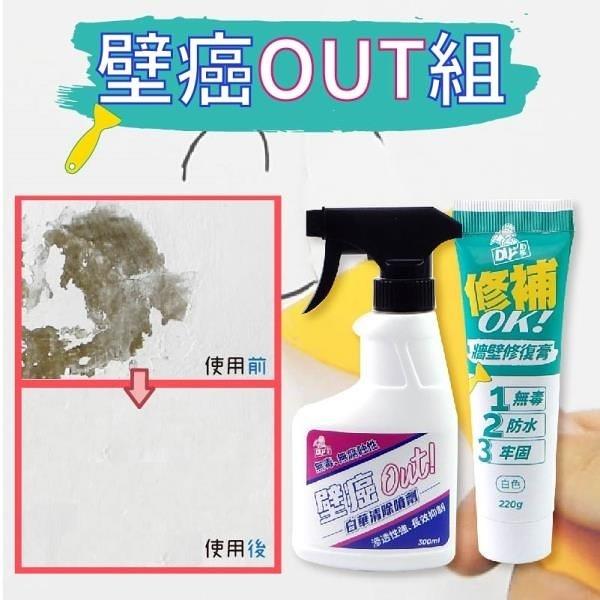 【南紡購物中心】【DIY小助手】壁癌OUT組(白華噴劑+牆壁修復劑)