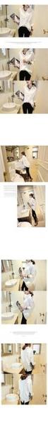 寬版上衣襯衫寬松大碼長袖襯衫 V領蝙蝠袖純棉純色后背拼接襯衣女 323#G711.胖丫