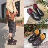 小皮鞋女學生韓版百搭加絨新款樂福鞋英倫風女鞋