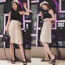 女夏新款時尚顯瘦不規則高腰大碼半身裙雪紡學生a字短裙   mandyc衣間