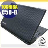 【EZstick】TOSHIBA Satellite C50-B 專用 Carbon黑色立體紋機身貼 (含上蓋、鍵盤週圍) DIY包膜