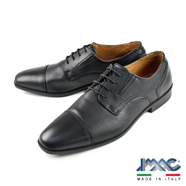 【IMAC】雅仕橫飾德比鞋 黑色(50081-BL)
