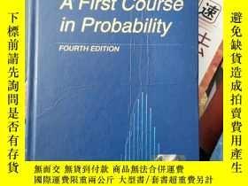 二手書博民逛書店A罕見first course in probability fourth edition(H5711)Y17