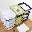 桌面置物架塑膠多功能儲物架子辦公文件架書...