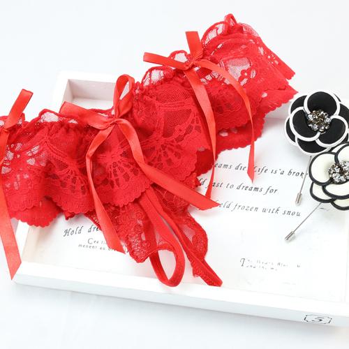 紅色-性感浪漫蕾絲開檔丁字褲/蕾絲內褲/透明鏤空內褲/法式蕾絲/情趣/情人節/禮物(606)-唐朵拉