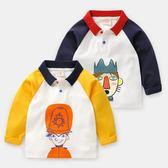 男童長袖T恤POLO衫韓版童裝兒童寶寶小童上衣潮 伊衫風尚